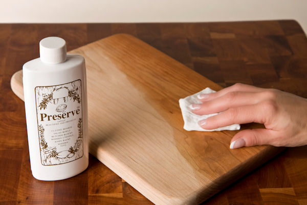 Preserve WoodenWare Oil, a Natural, Food-Safe Finish is Great for Wood Cutting Boards